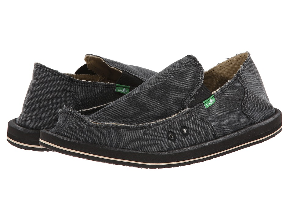 Sanuk - Vagabond (Charcoal) Mens Slip on  Shoes