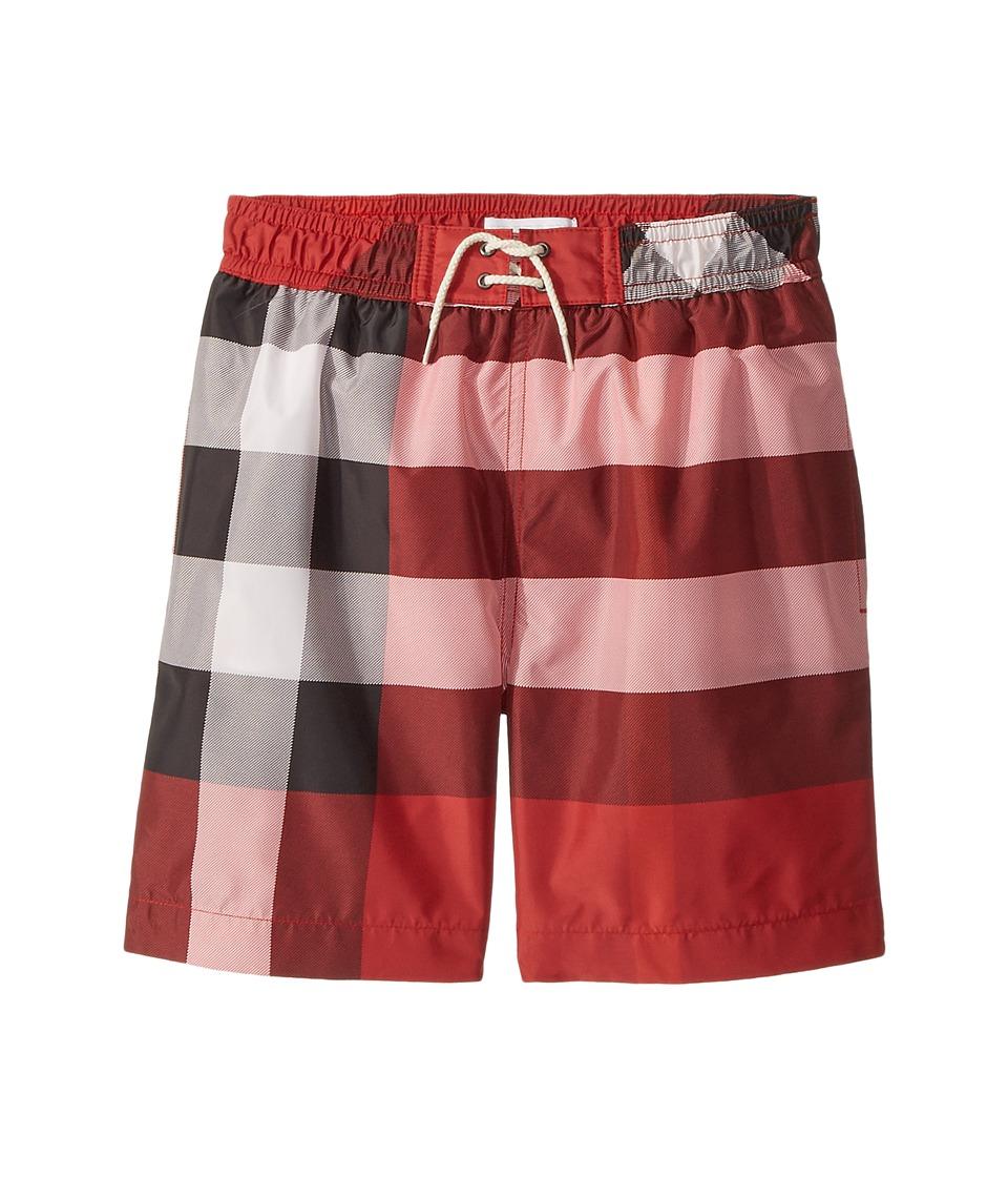 Burberry Kids - Swim Check Shorts (Little Kids/Big Kids) (Parade Red) Boys Swimwear