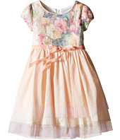 Us Angels - Printed Sequin Mesh Cap Sleeve Dress w/ Tulle Skirt (Little Kids)