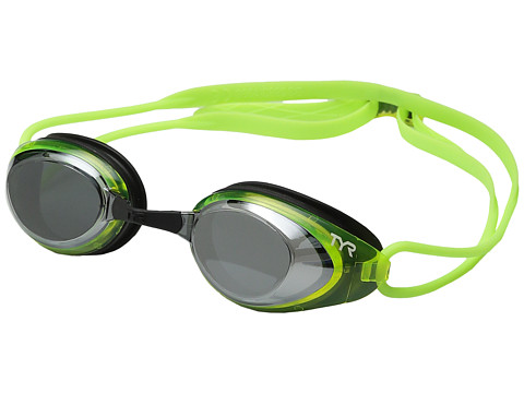 TYR Blackhawk Racing Polarized Goggles - Silver/Flourescent Yellow/Black
