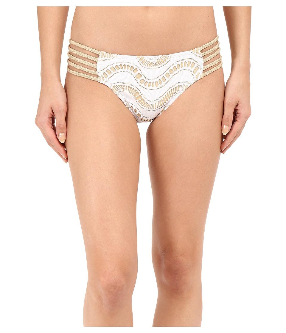 Luli Fama Buena Onda Multi Braid Full Bottom White Womens Swimwear