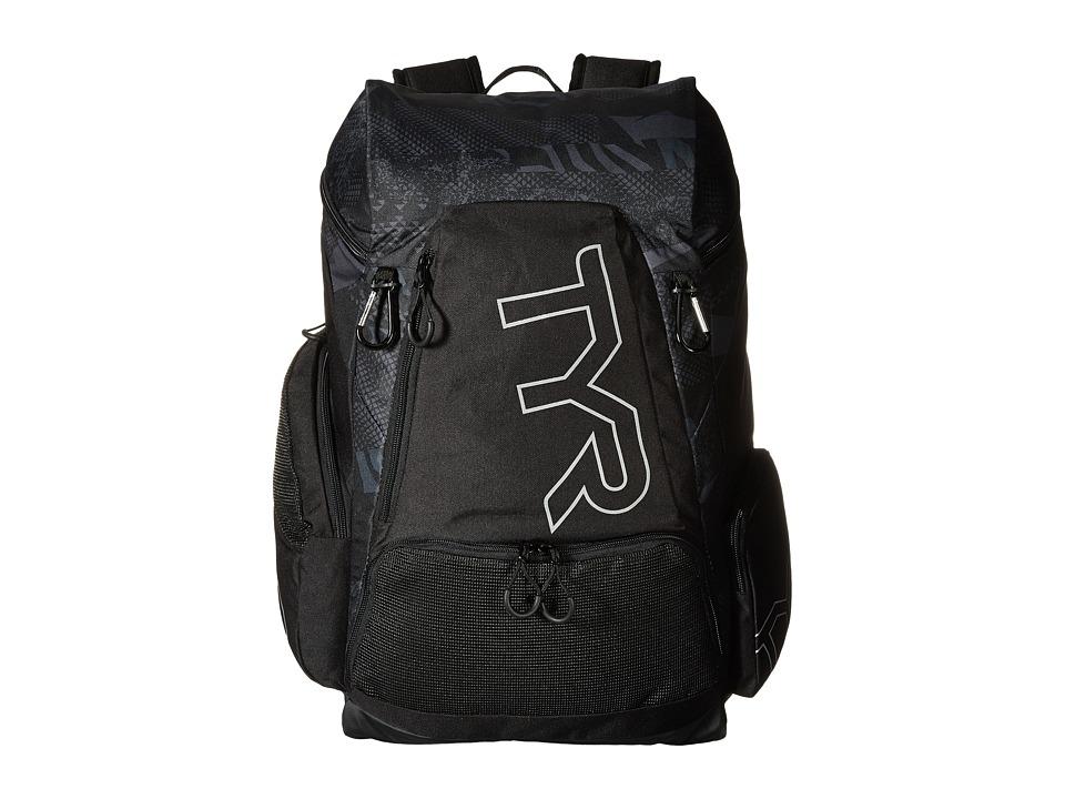 TYR Alliance 45L Backpack Black/Black Backpack Bags