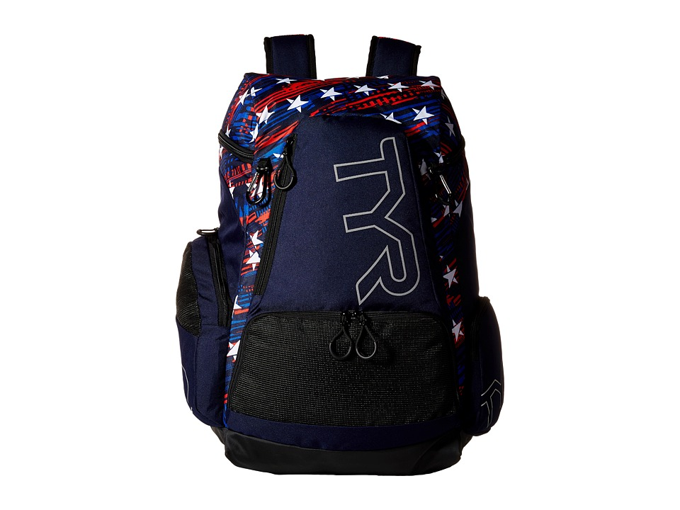 TYR Alliance 45L Backpack Navy/Red Backpack Bags