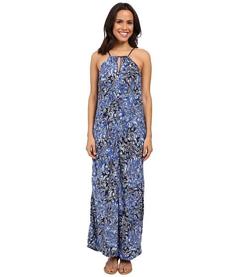 Lucky Brand Indigo Floral Maxi Dress