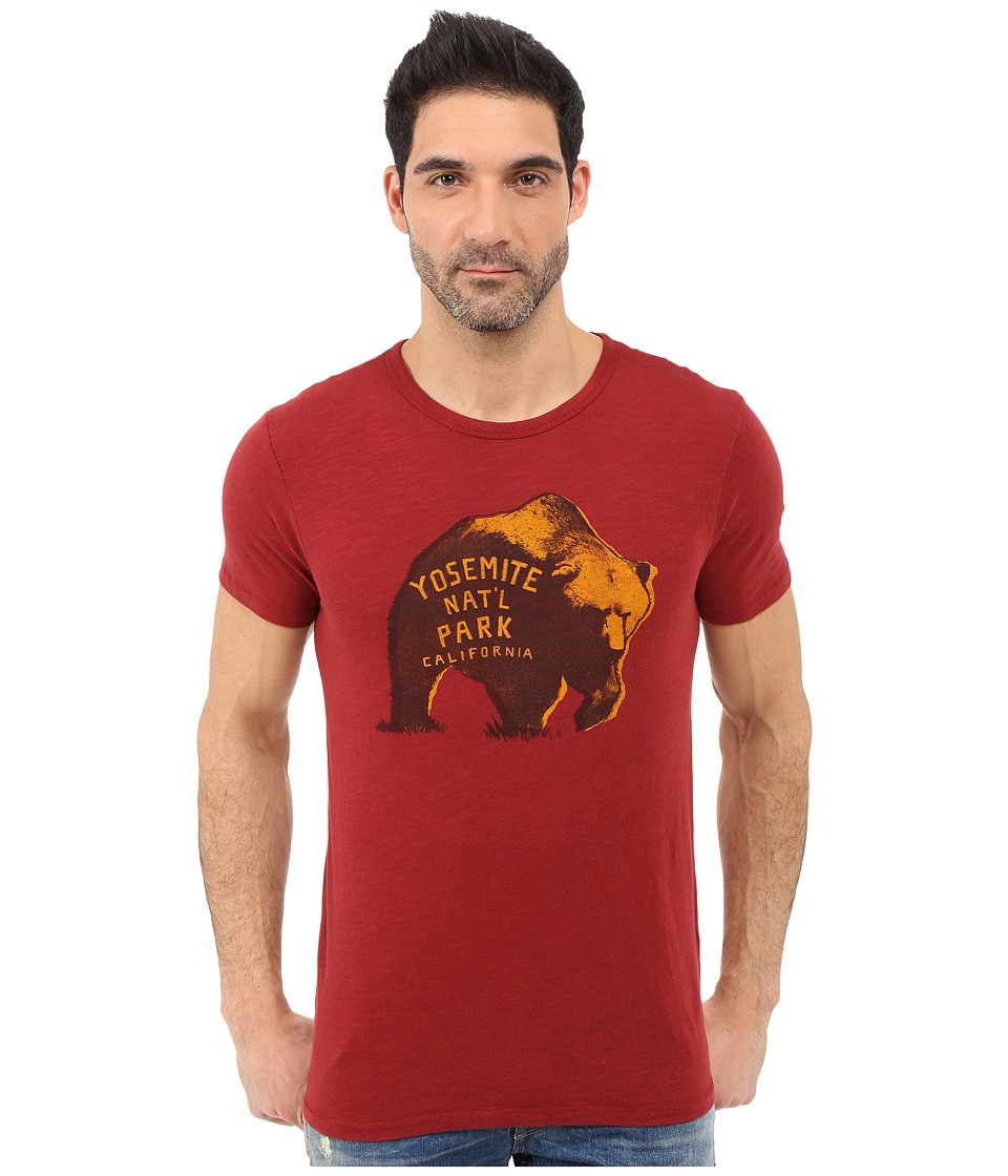 Lucky Brand - Yosemite Bear Graphic Tee (Sun Dried Tomato) Men
