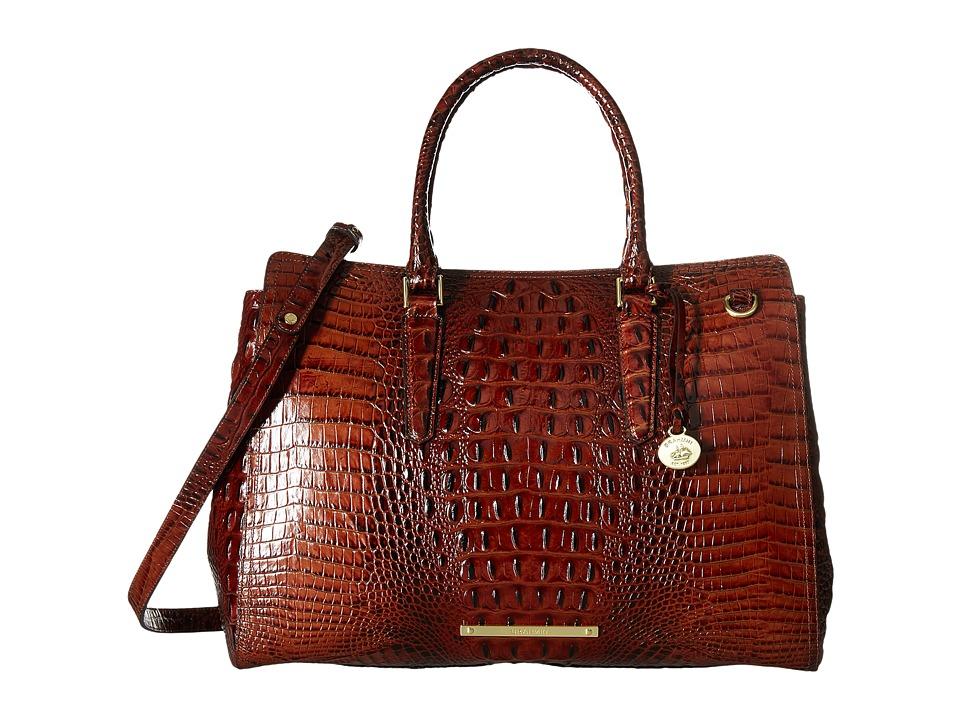 Brahmin Finley Carryall (Pecan) Handbags