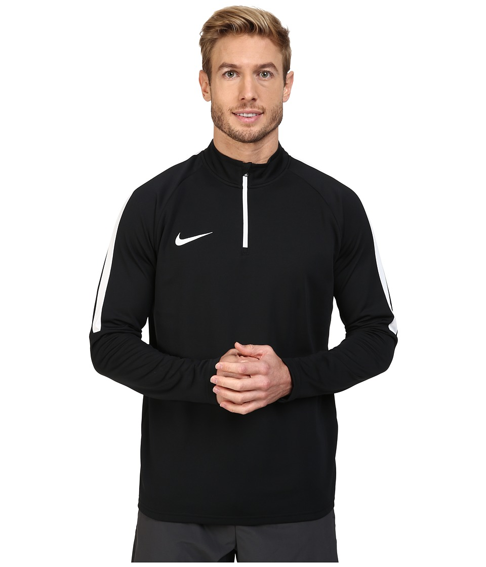Nike Dry 1/4 Zip Soccer Drill Top (Black/Black/White) Men...