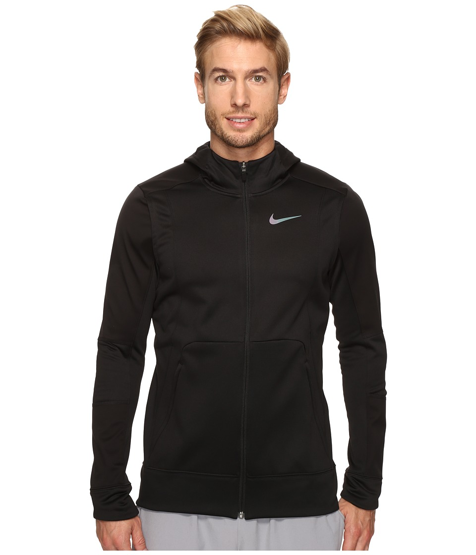 Nike Therma Hyper Elite Basketball Hoodie (Black/Black/Iridescent) Men