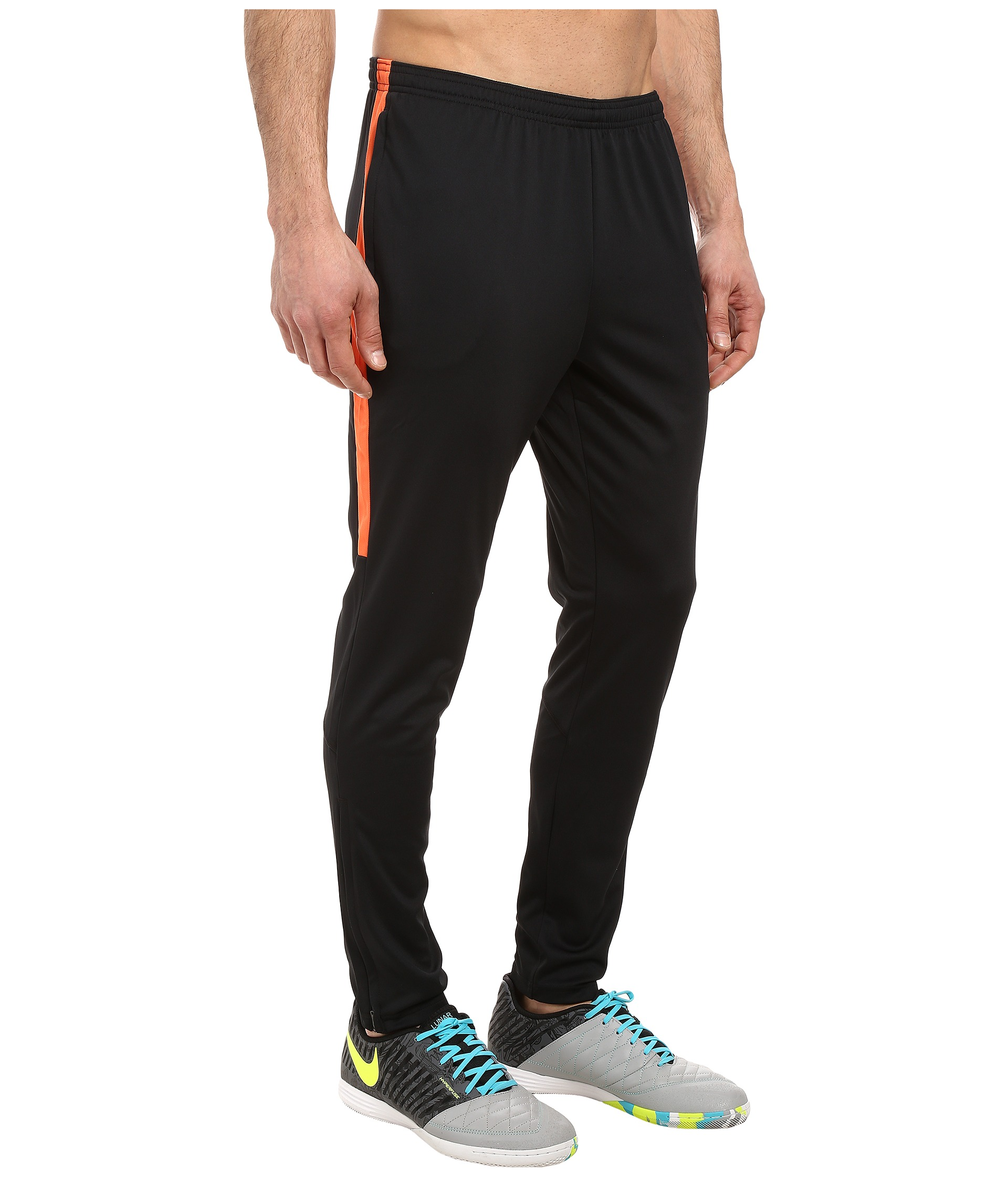 nike dry academy soccer pant black black turf orange turf orange free shipping both. Black Bedroom Furniture Sets. Home Design Ideas