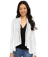 Lucky Brand - Woven Mixed Cardigan