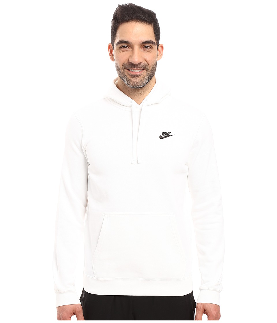 Nike Club Fleece Pullover Hoodie (White/White/Black) Men