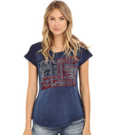 Lucky Brand - Embroidered Flag Tee
