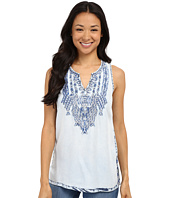 Lucky Brand - Tencel Embroidered Tank Top