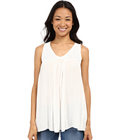 Lucky Brand - Crinkle Embroidered Tank Top