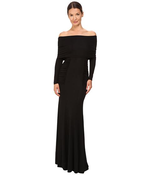 YIGAL AZROUËL Off Shoulder Matte Jersey Gown - Black