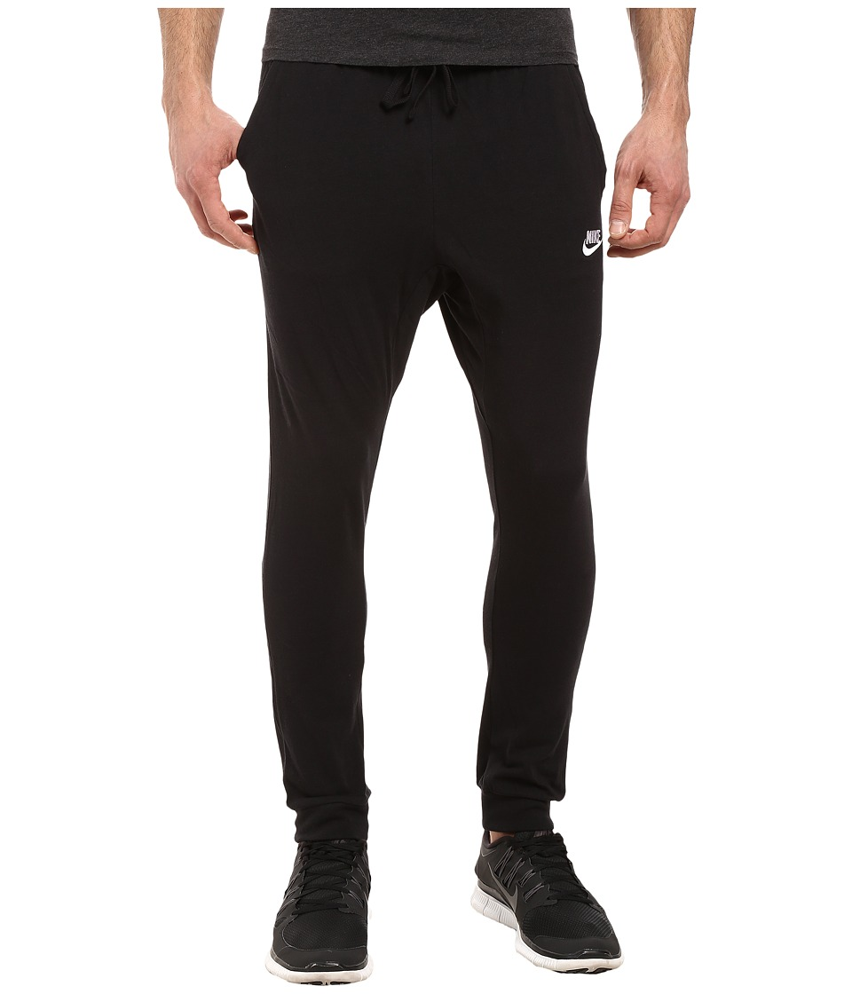 Nike Club Jersey Jogger Pant (Black/White) Men