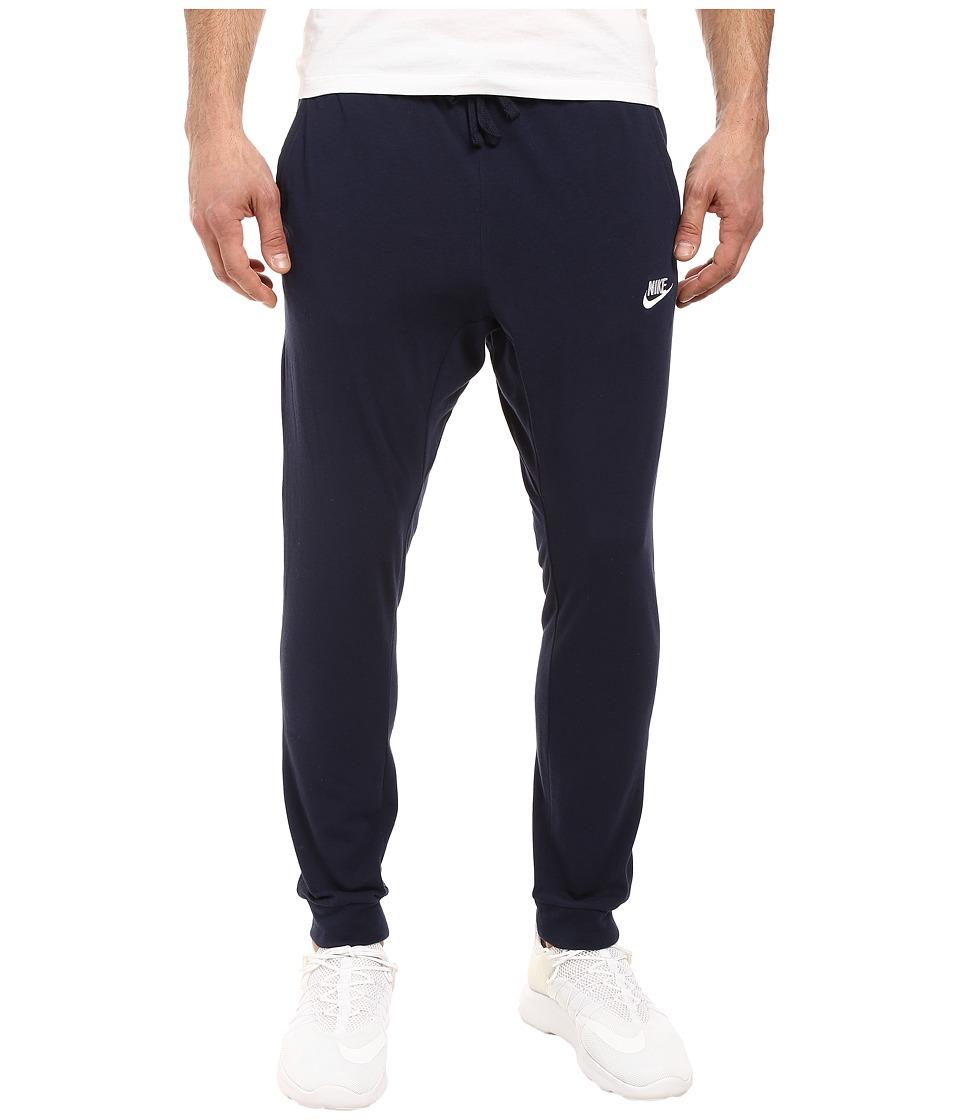 Nike Club Jersey Jogger Pant (Obsidian/White) Men