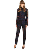 YIGAL AZROUËL - Rose Embroidered Lace Jumpsuit w/ Bell Sleeves