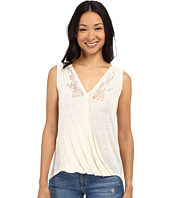 Lucky Brand - Sleeveless Surplice Shirt