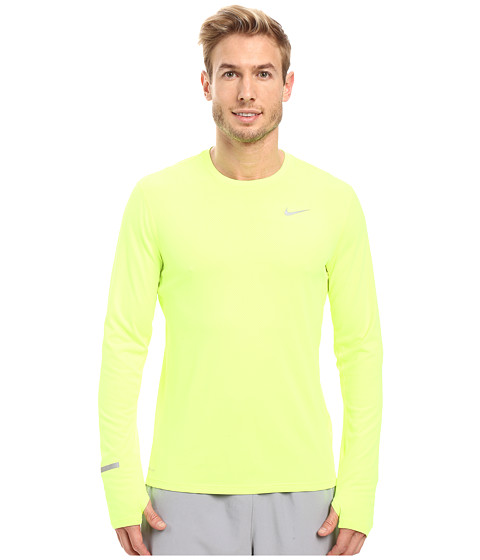 Nike Dri-FIT™ Contour L/S Running Shirt - Volt/Reflective Silver