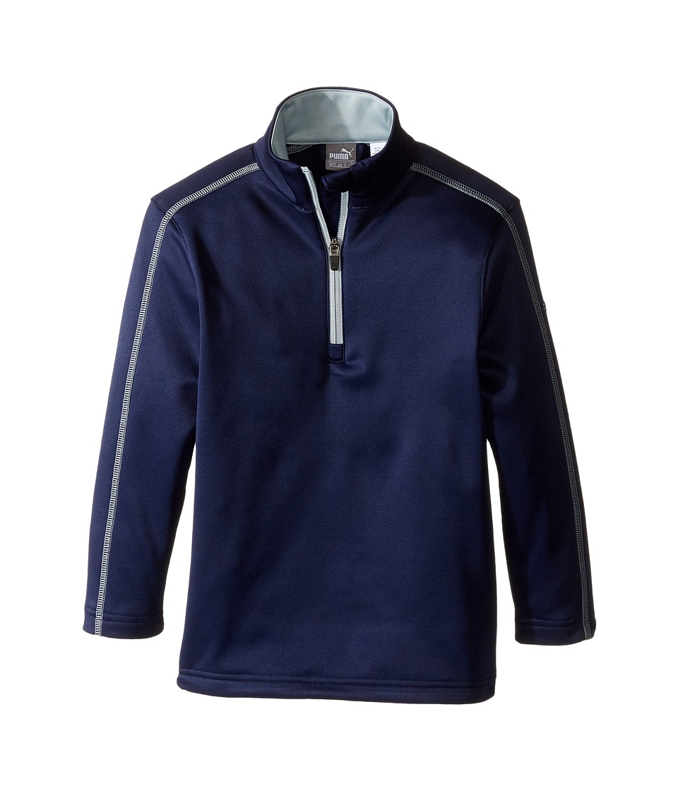 PUMA Golf Kids - Core Fleece 1/4 Zip JR (Big Kids) (Peacoat) Boys Fleece