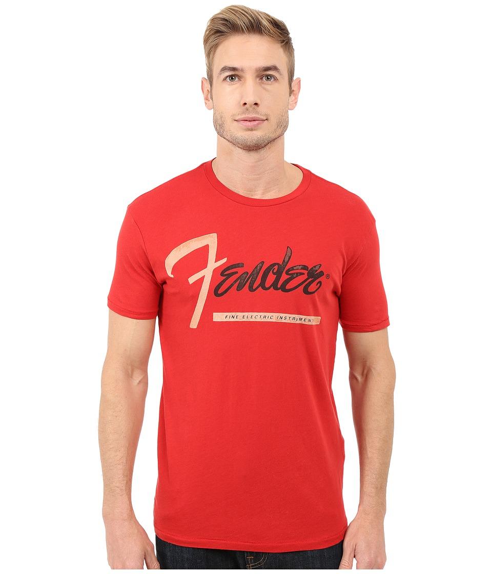 Lucky Brand - Fender Stripe Graphic Tee (Pompeian Red) Men