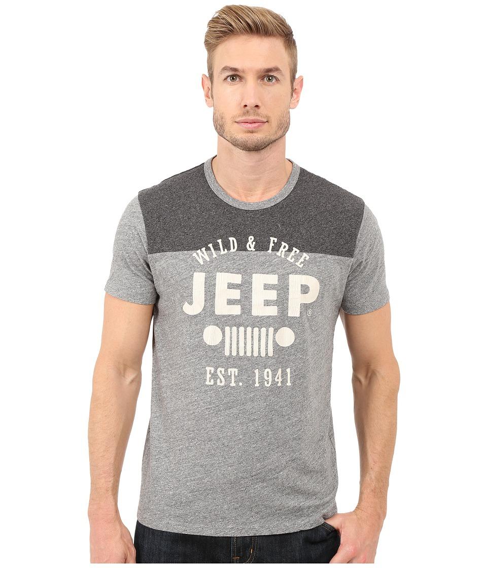 Lucky Brand - Jeep Graphic Tee (Heather Grey) Men