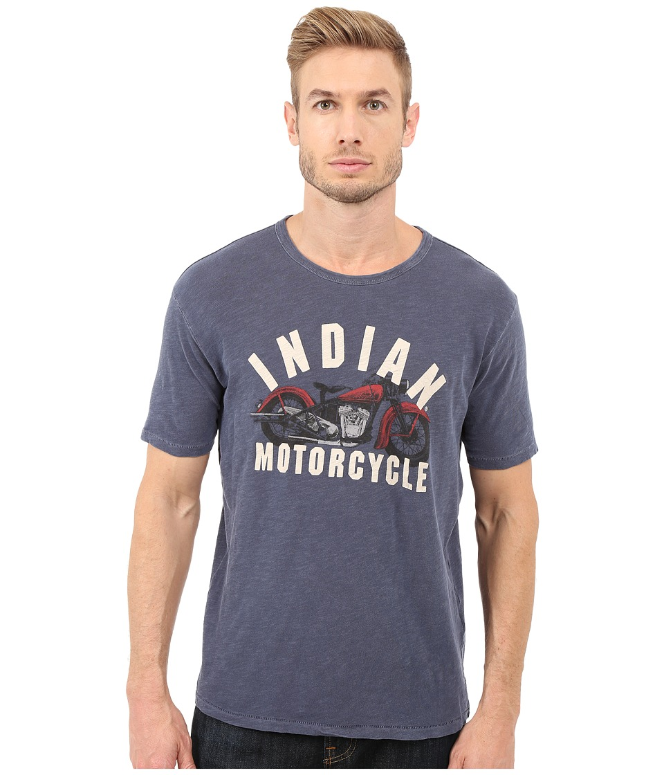 Lucky Brand - Indian Motorcycle Graphic Tee (American Navy) Men