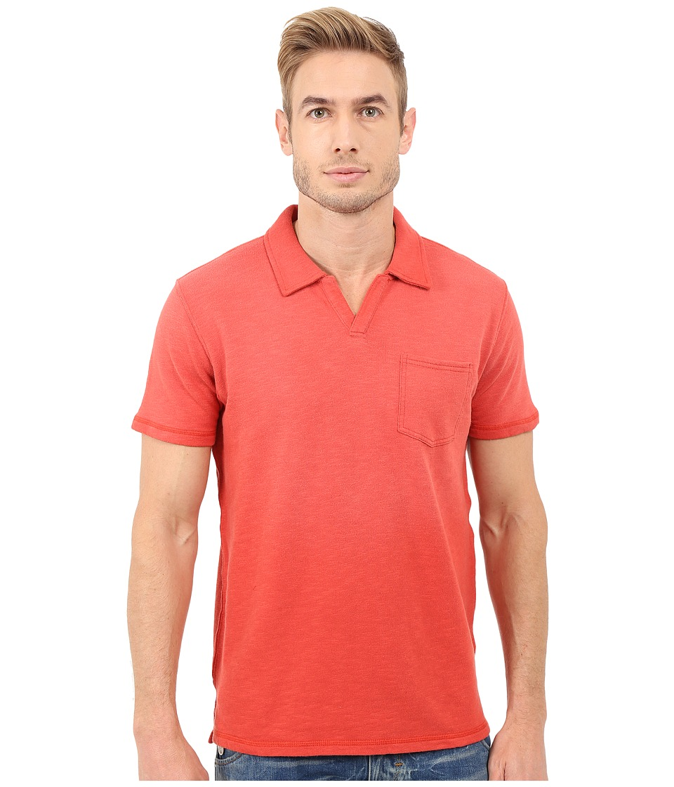 Lucky Brand Palm Springs Polo Rococcoo Red Mens Clothing