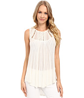 Lucky Brand - Embroidered Yoke Top