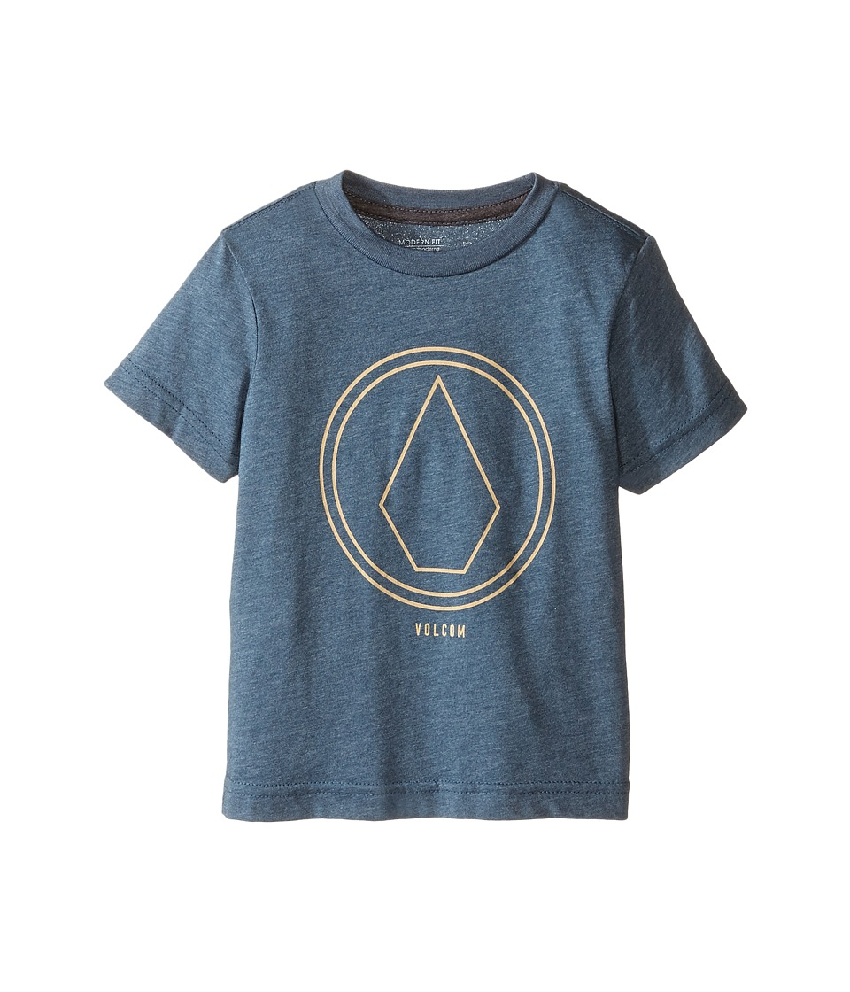 Volcom Kids - Pin Line Short Sleeve Tee (Toddler/Little Kids) (Airforce Blue Heather) Boy