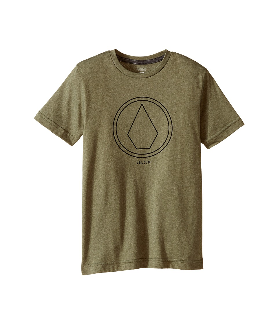 Volcom Kids - Pin Line Short Sleeve Tee (Toddler/Little Kids) (Vineyard Green Heather) Boy