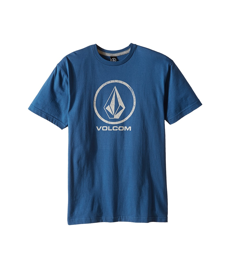Volcom Kids - Fade Stone Short Sleeve Tee (Big Kids) (Smokey Blue) Boy