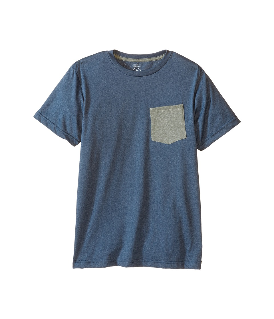 Volcom Kids - Heather Twist Short Sleeve Tee (Big Kids) (Airforce Blue Heather) Boy