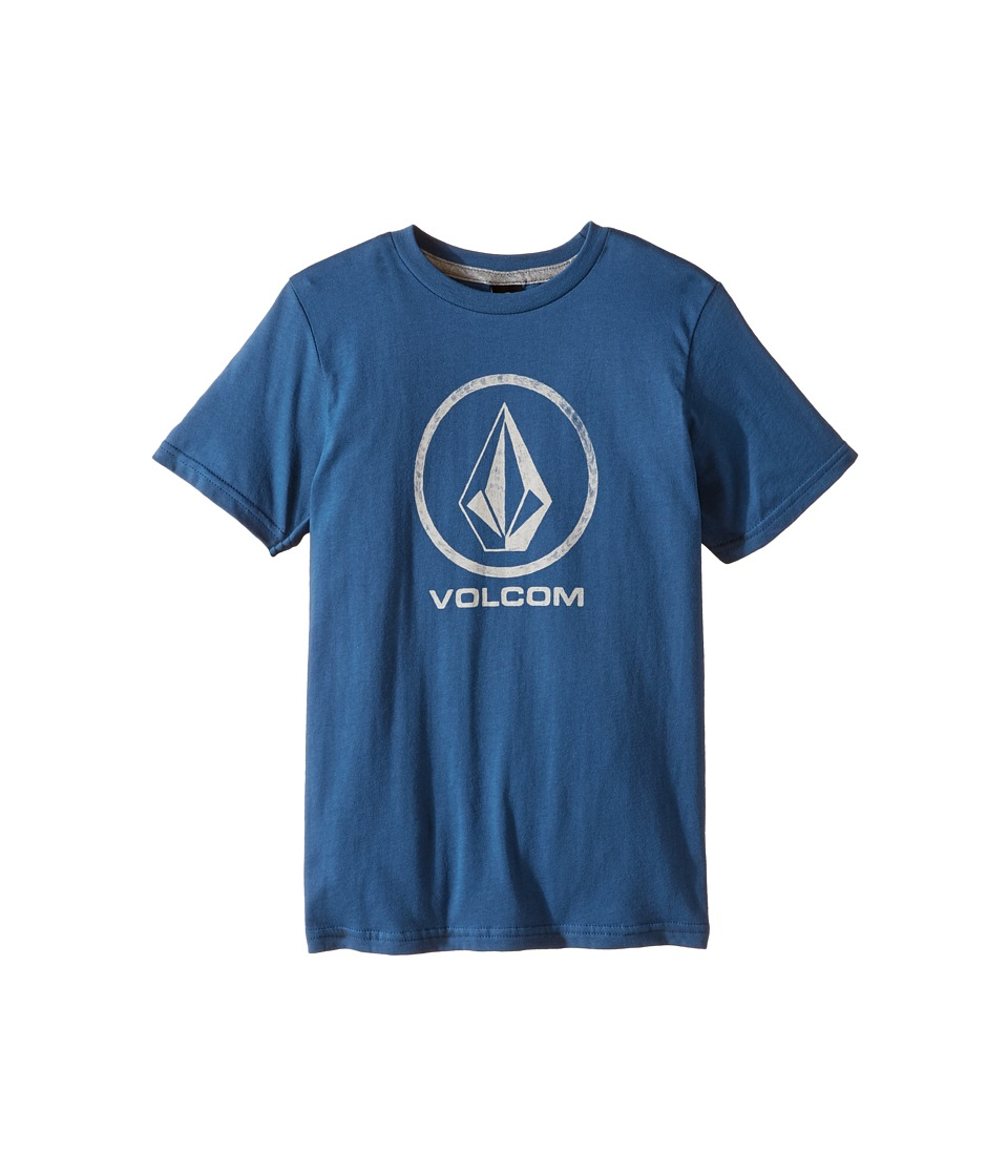 Volcom Kids - Fade Stone Short Sleeve Tee (Toddler/Little Kids) (Smokey Blue) Boy