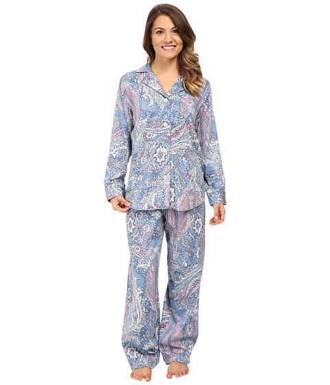 LAUREN Ralph Lauren Petite Cotton Sateen Pajamas - Blue Paisley