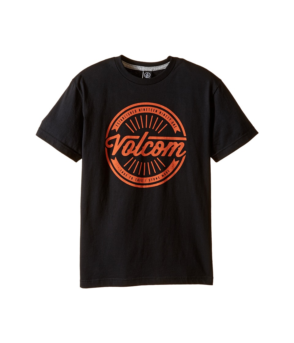 Volcom Kids - Message Short Sleeve Tee (Big Kids) (Black) Boy