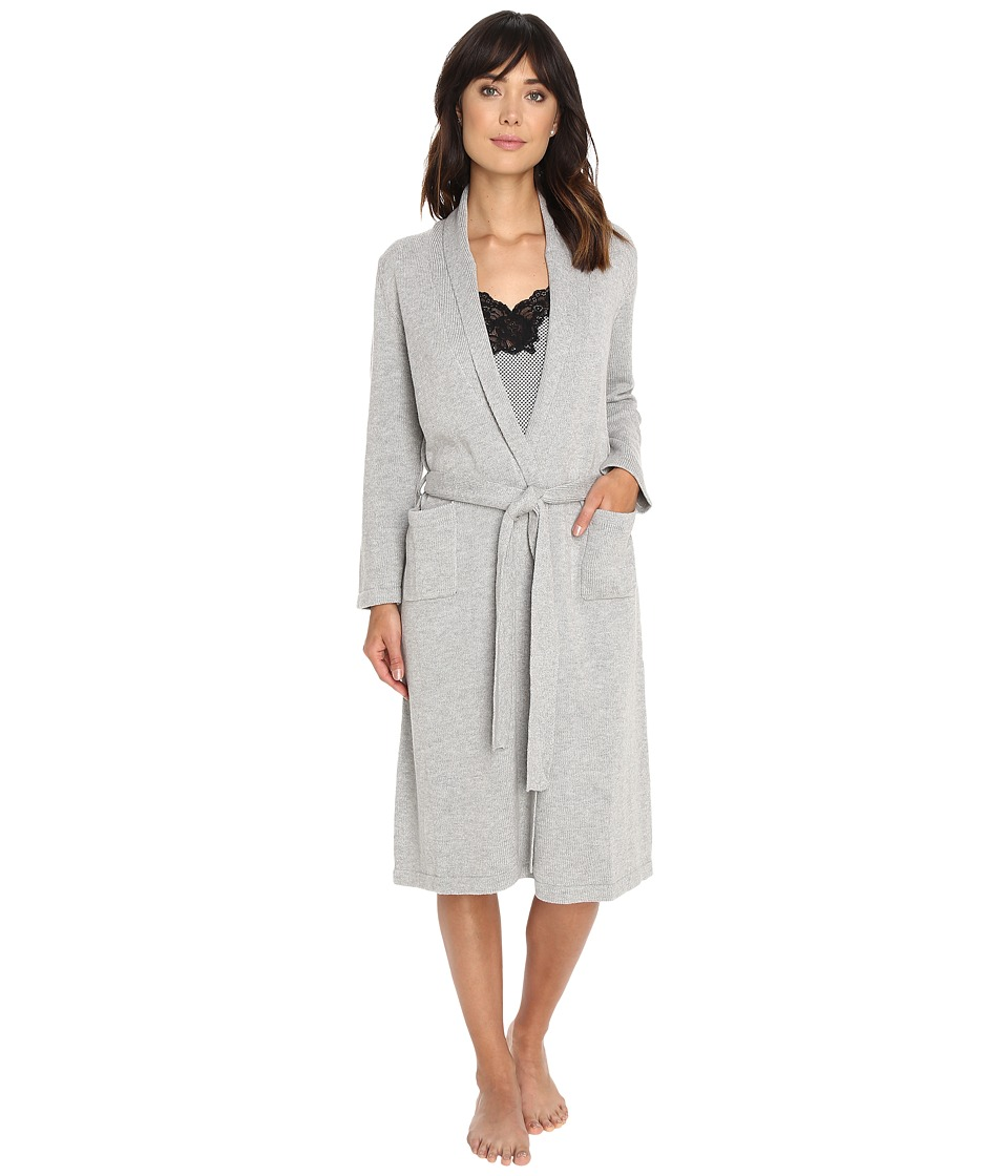 LAUREN Ralph Lauren - Sweater Knit Ballet Robe (Grey Heather) Women