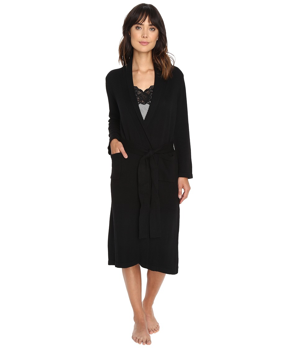 LAUREN Ralph Lauren - Sweater Knit Ballet Robe (Black) Women