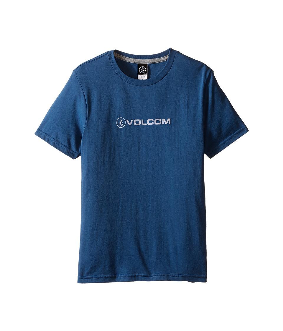 Volcom Kids Euro Pencil Short Sleeve Tee (Toddler/Little Kids) (Smokey Blue) Boy