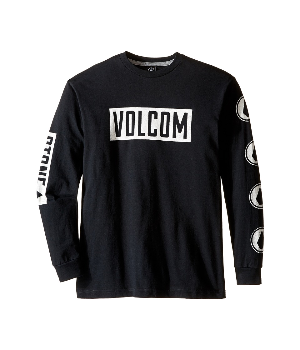Volcom Kids - Knock Long Sleeve Tee (Big Kids) (Black) Boy
