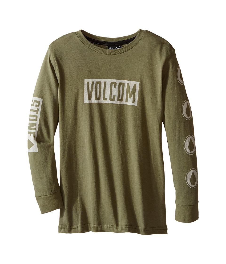 Volcom Kids Knock Long Sleeve Tee (Toddler/Little Kids) (Vineyard Green) Boy