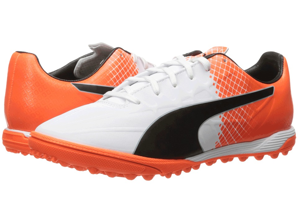 PUMA evoSPEED 4.5 TT (Puma White/Puma Black/Shocking Orange) Men