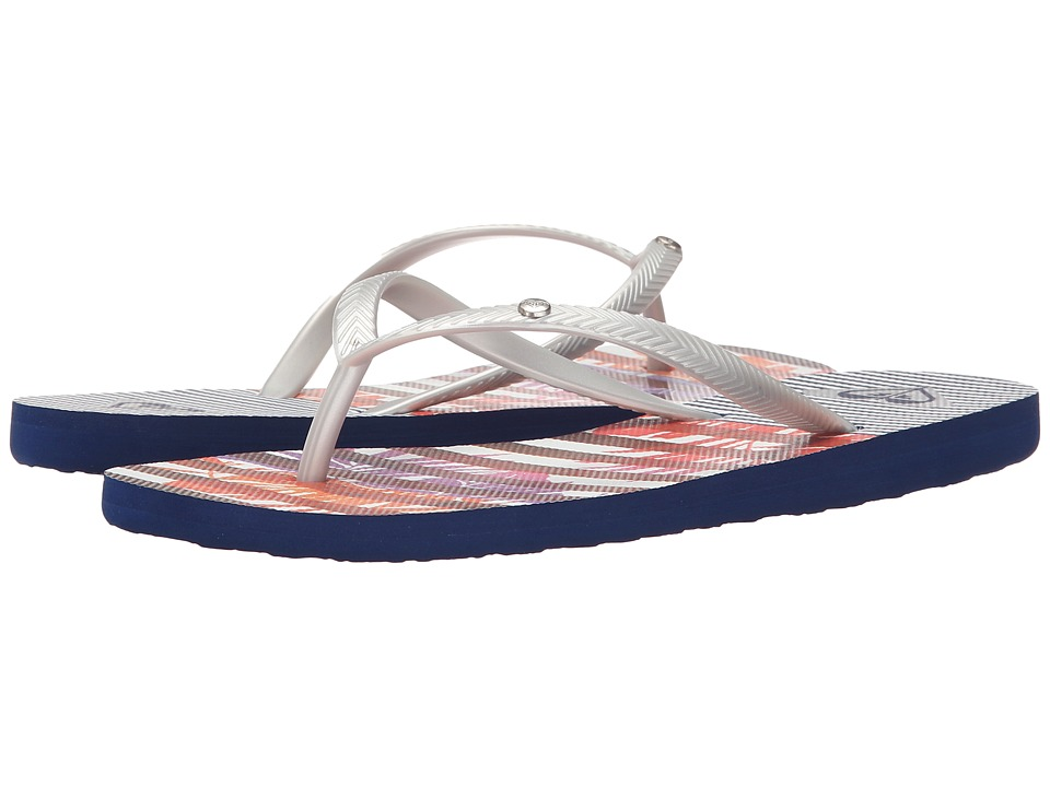 Roxy Bermuda S Silver/Royal Womens Sandals