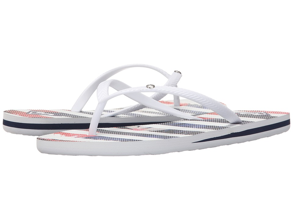 Roxy Bermuda S White/Blue Womens Sandals