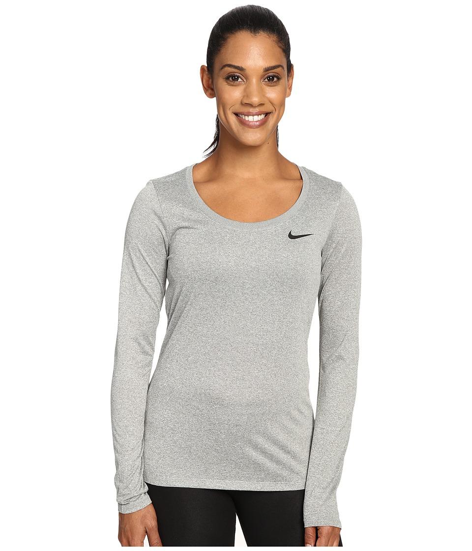 Nike Dry Long Sleeve Training Top (Dark Grey Heather/Black) Women
