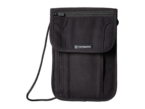 Victorinox Deluxe Concealed Security Pouch with RFID Protection - Black/Black Logo