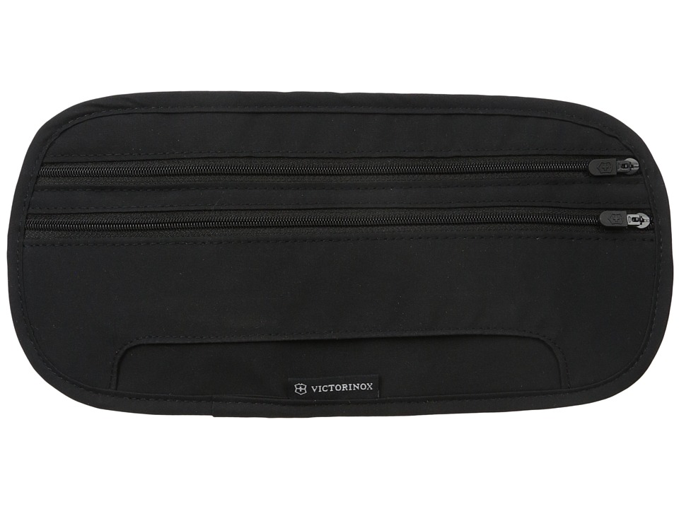 Victorinox - Deluxe Concealed Security Belt with RFID Protection (Black/Black Logo) Wallet