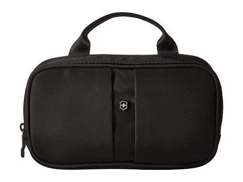 Victorinox Overnight Essentials Toiletry Kit - Black/Black Logo