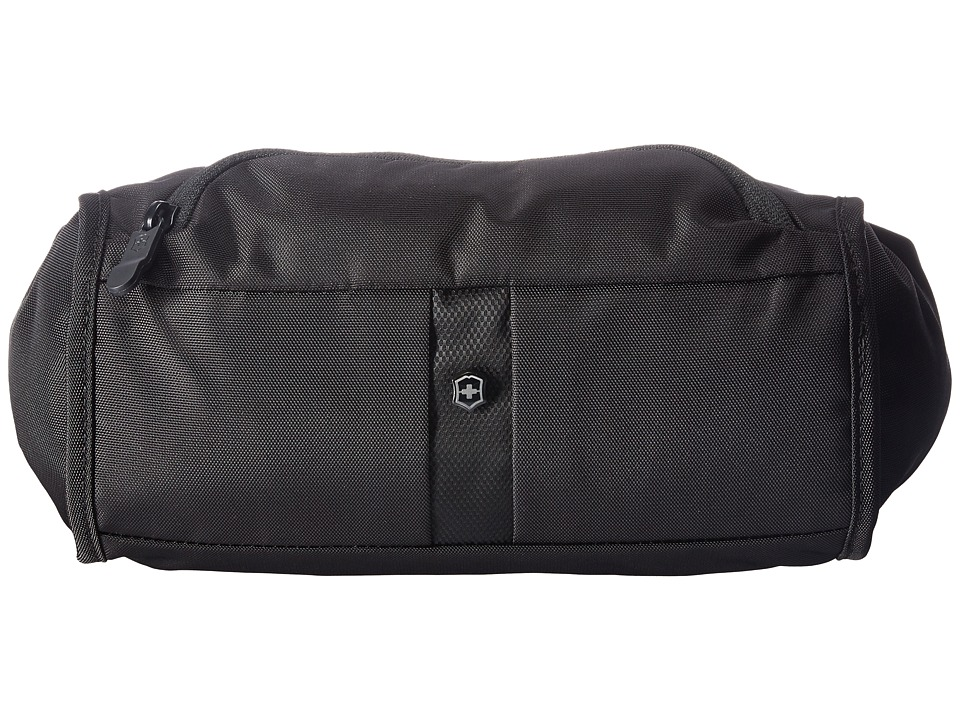 Victorinox - Lumbar Pack Waist Tote with RFID Protection (Black/Black Logo) Bags